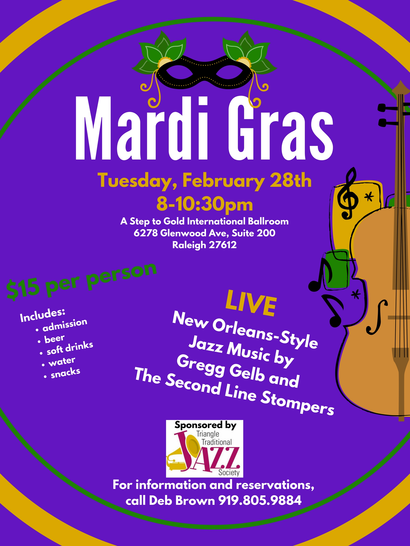 Join us for Mardi Gras!