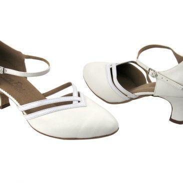 C8881 White Leather & White Patent Trim