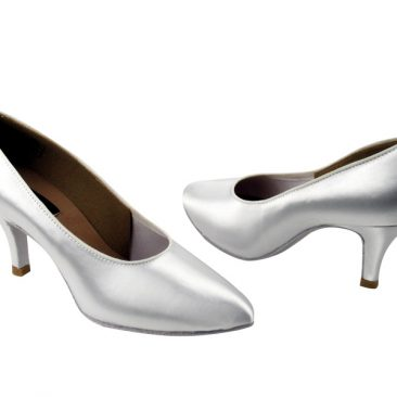CD5021M White Satin-Pointed Toe